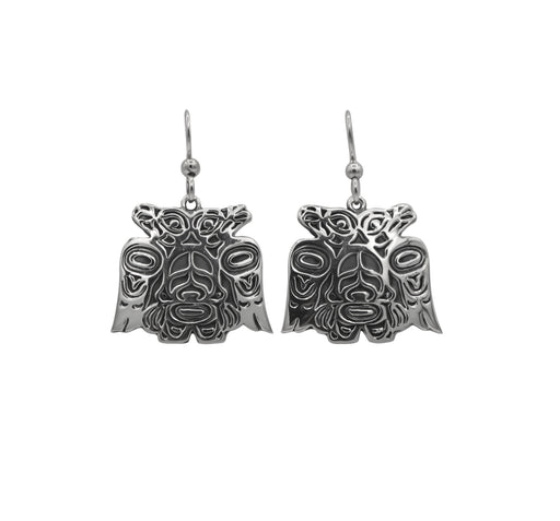 Lovebirds Sterling Silver Dangle Earrings - 1 inch - The Shotridge Collection