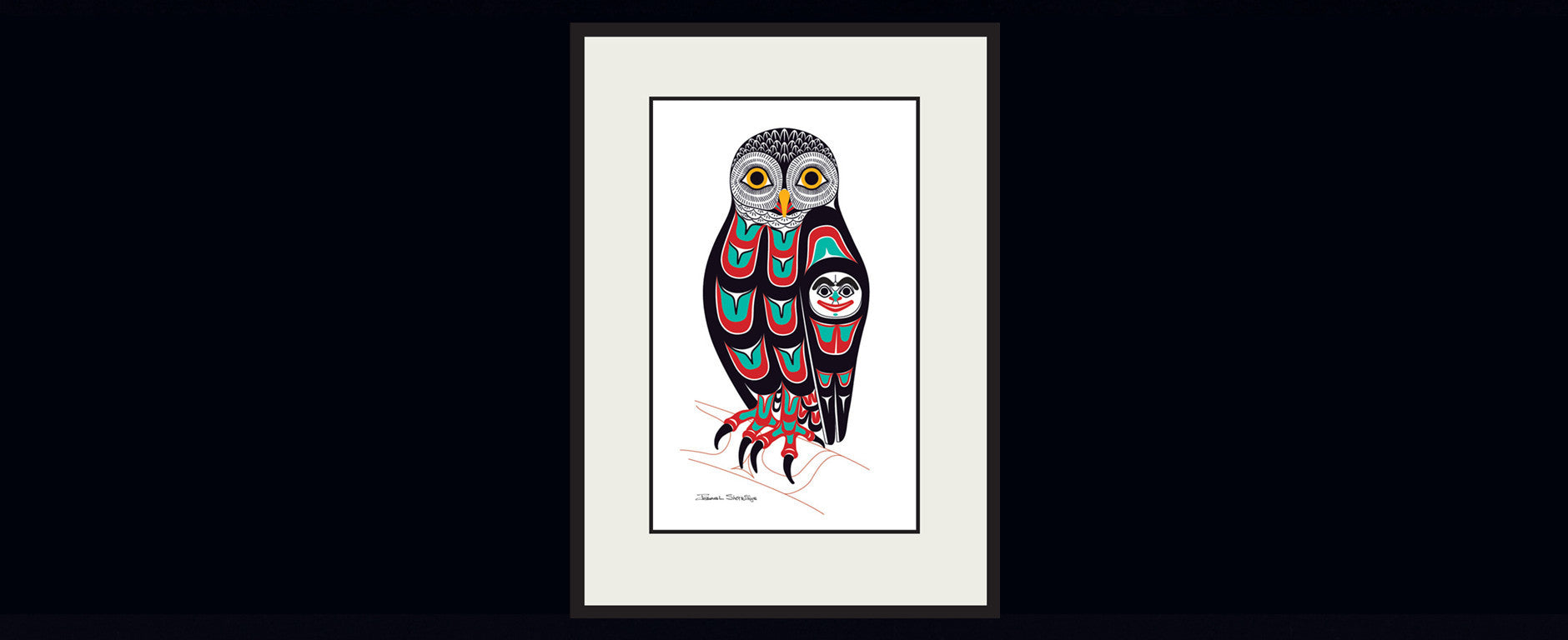 The Owl Art Print Limited Edition Giclee