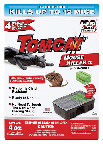 Tomcat Mouse Killer Bait Stations box of 4