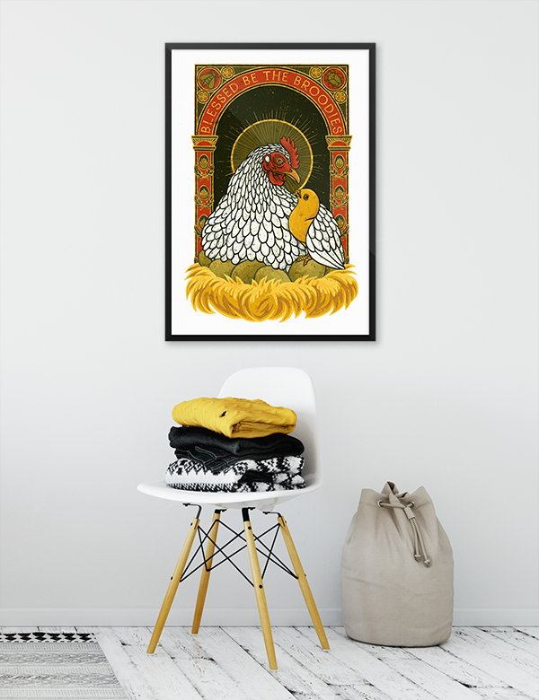 Blessed Be The Broodies - Art Print