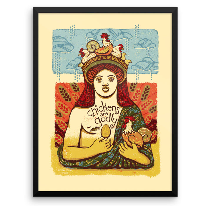 Dionysus with Chickens - Art Prints