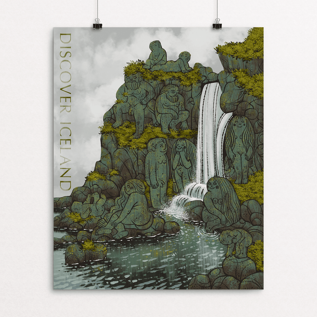 Discover Iceland - A Tribute to the Hidden Folk - Art Prints