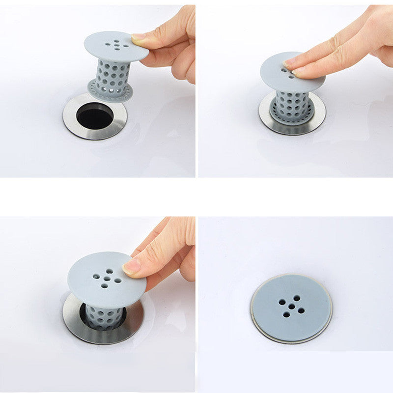 SILICONE DRAINER PROTECTION FOR FILTERING HAIR IN TUB EASY CLEAN!
