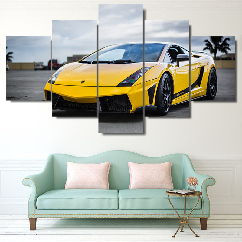 ... LAMBORGHINI GALLARDO CAR   HQ 5 PIECE ART CANVAS PRINT ...