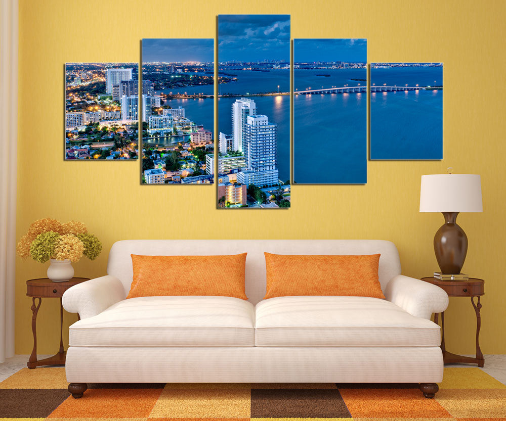 ATLANTA SKYLINE - HQ 5-PIECE ART CANVAS PRINT - Arts n Games
