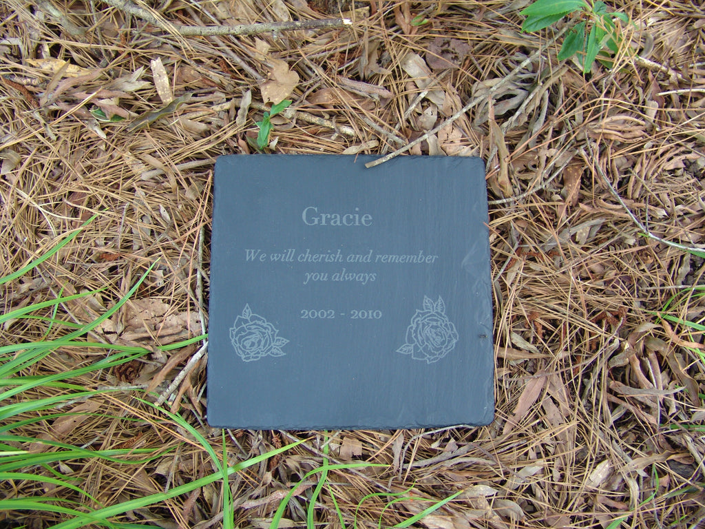 Memorial Plaque - Horizontal Rectangle 8x10""