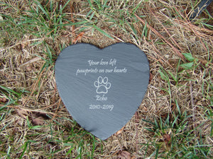 Memorial Plaque - Heart 9""