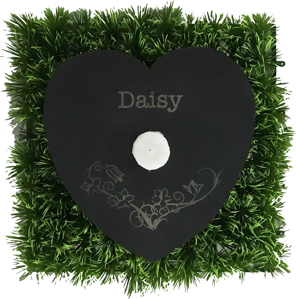 "Living Memorial Plaque - Heart 9"" with Carving"