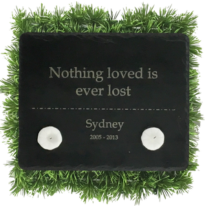 Living Memorial Plaque - Horizontal Rectangle with Double Carving 8x10""