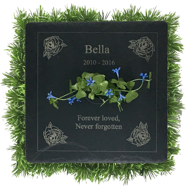 Living Memorial Plaque - Square with Carving 12x12""