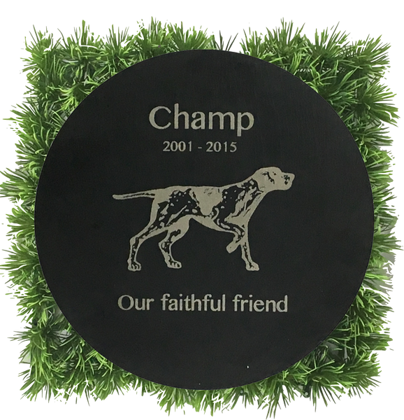 Dog Memorial Plaque - Circle 12""