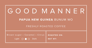 Papua New Guinea Bunum Wo - Good Manner