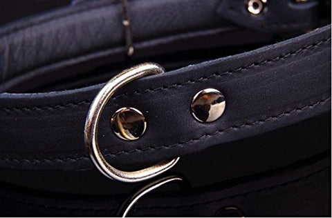 Handmade Genuine Leather Dog Collars, Quality Nickel Hardware