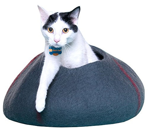 Purrfect Feline Cat Thermal Cave Bed