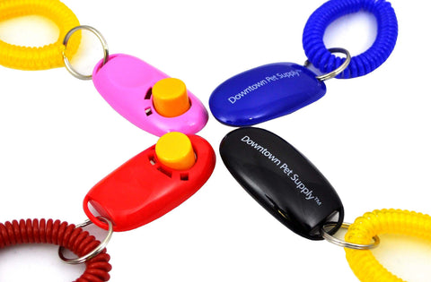 Big Button Training Clickers with Wrist Band