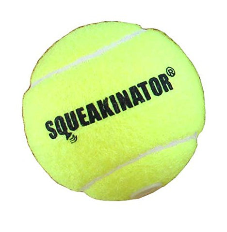 The Squeakinator, the original squeaking tennis ball
