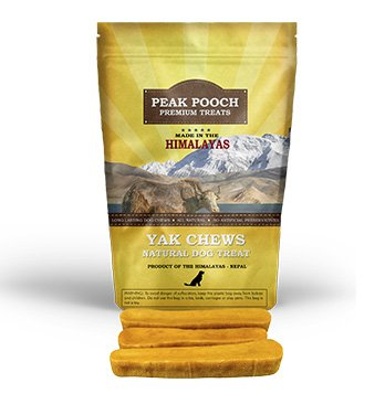 Himalayan Yak Dog Chew - Peak Pooch - 100% Natural Dog Treats for Small, Medium, and Large Dogs