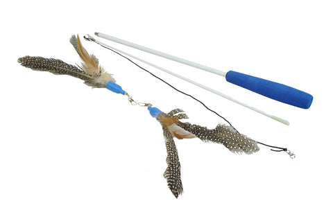 Feather Refills for Interactive Cat Feather Wand, 3 Pack