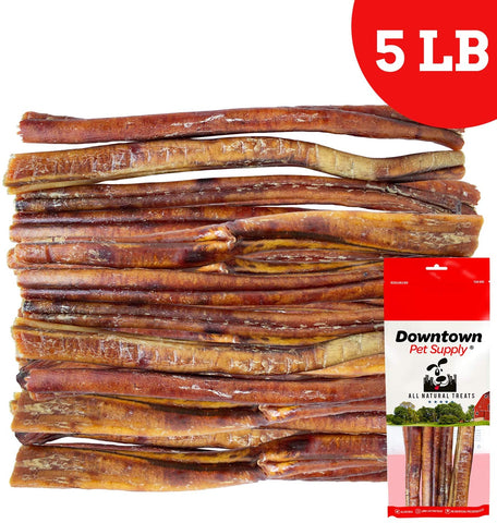 6 and 12 inch Jumbo Extra Thick USA Bully Sticks for Dogs (Bulk Bags by Weight) - All Natural American Dog Dental Chew Treats, High in Protein, Great Alternative to Rawhides