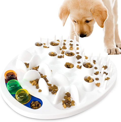 Slow Feed Food Bowl, Fun Maze Puzzle Designs Anti-Gulping No Choke Pet Feeders, Interactive Toy Feeding Game for Small, Medium, and Large Dogs