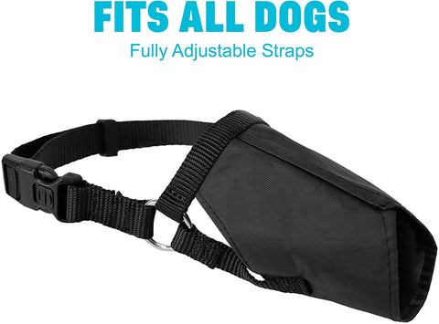 Soft Flexible Mesh Dog and Cat Muzzle for Barking Biting or Chewing, Humanely Train Behavior and Obedience, Gentle Halter Leader