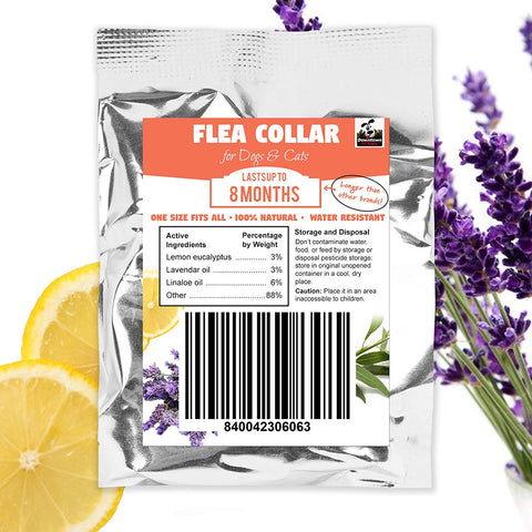 All-Natural Flea and Tick Collar Long Lasting Indoor Outdoor Effective Prevention Treatment for Dogs and Cats