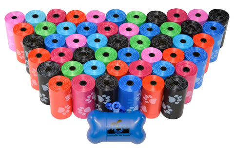 Rainbow with Paws - Pet Waste Poop Bags + FREE Dispenser