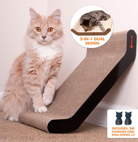 Cat Scratching Personalized Wall Recliner, Plus FREE Catnip