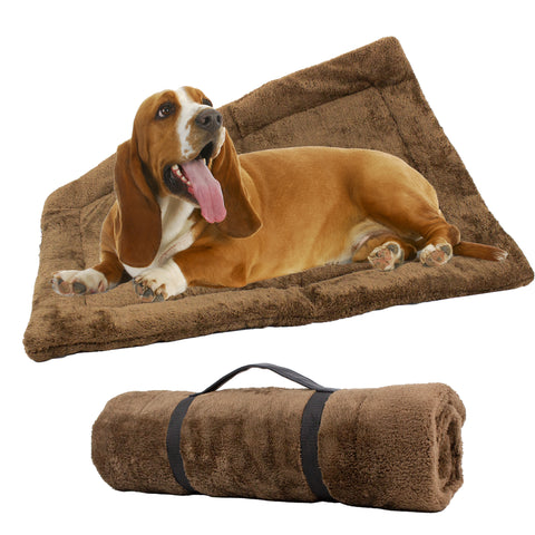 Self-Heating Thermal Crate Mats with Handle, Warming Kennel Pads for Dogs, Cats, and Pets