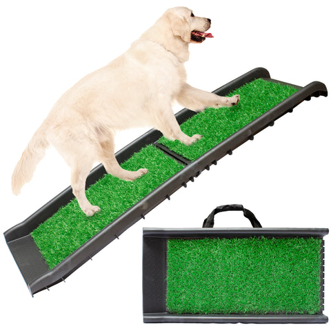 Foldable Travel Pet Ramp with Carry Handles