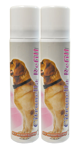 2 PACK Citronella Spray Can REFILL for NO BARK Collar, 6.2 ounces (Approximately 600 sprays)-Safe, Gentle and Effective