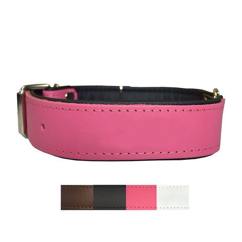 Premium Handmade Leather Dog Collar with Personalized Lasered Text
