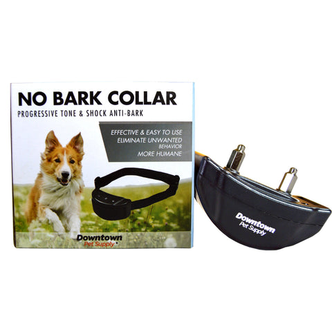 Latest Technology - Progressive No Bark Training Collar, Tone & Static Shock