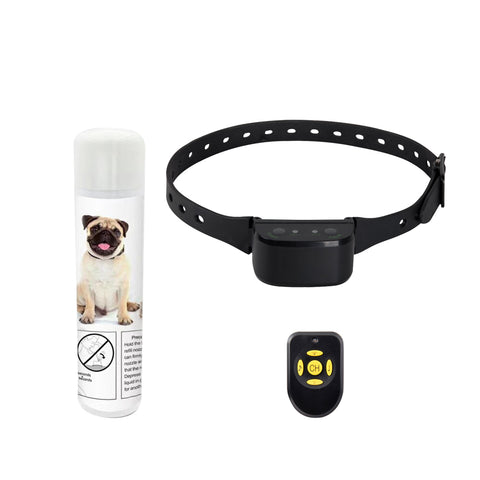 No Bark Citronella Spray & Tone Rechargeable Training Collar - Anti Barking Safe & Humane for Small, Medium, and Large Pets