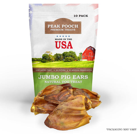 USA Natural Jumbo Pig Ears for Dogs