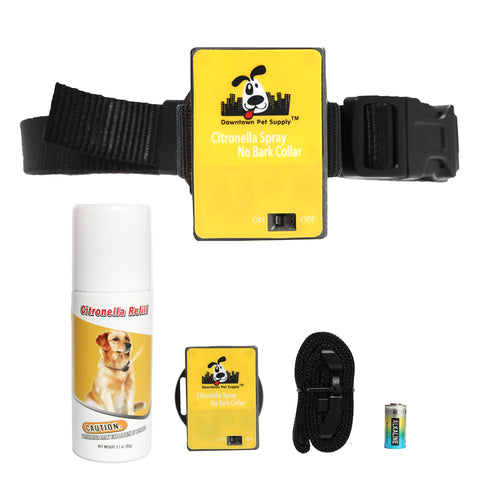 NO BARK Citronella Anti-Bark Training Collar Kit For Dogs