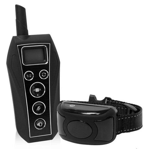 Shock, Tone, and Vibrate Waterproof Remote Rechargeable Training Collar with 8 Levels of Adjustability and Rapid Charge