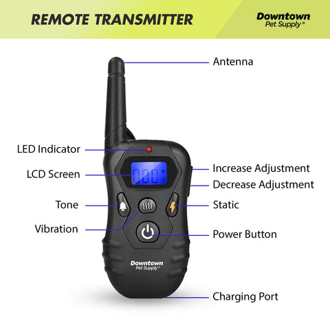 Rechargeable Remote Training Collar for Dogs - Vibrate, Tone, & Static