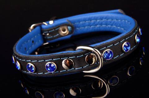Decorated Studded Bling Jewel Small Dog Collar