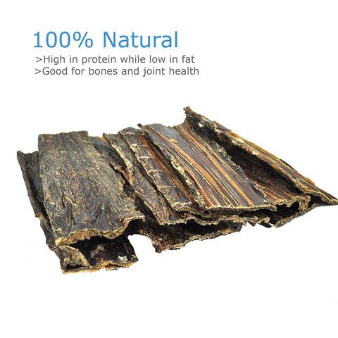Beef Jerky Chew Treats for Dogs - 100% Natural Source of Protein