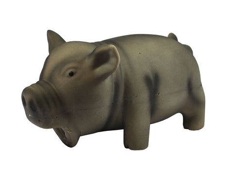 Grey Squeaky Pig Toy