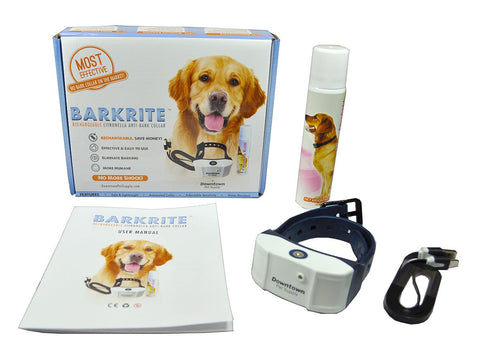 Rechargeable NO Bark Citronella Spray Collar