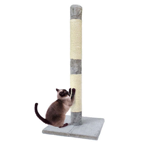 Colossal Cat Scratch Post - Deluxe Interactive Cat Scratching Sisal Posts Tree and Exerciser for Kitty