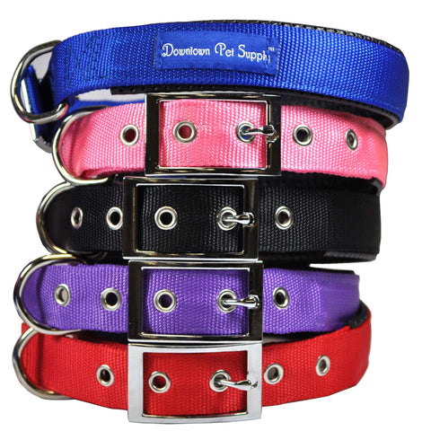 Deluxe Padded Dog Collar, Thick and Adjustable