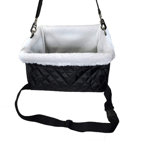 Luxurious Dog Booster Car Seat for Small Dogs