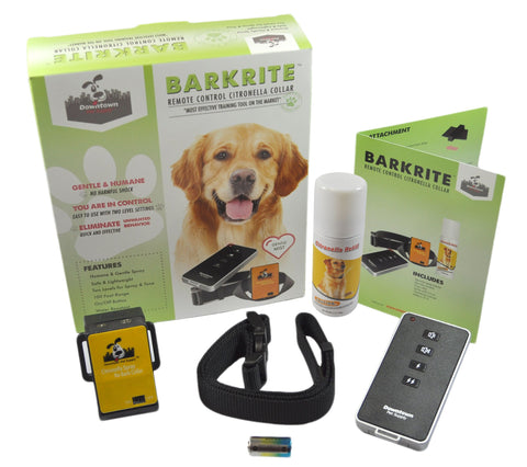 Citronella Dog Training Collar with Remote, Tone & Spray (two levels)
