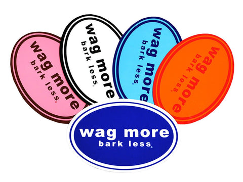 5 Pack STICKERS - Wag More Bark Less