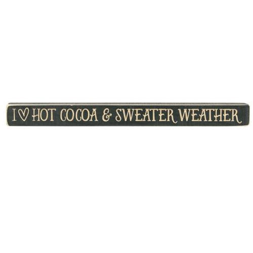 Cocoa & Sweater Weather Engraved Sign