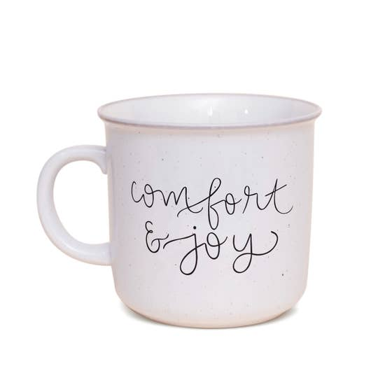 Comfort and Joy Rustic Campfire Mug