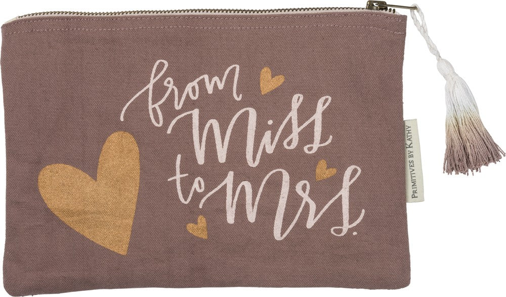 Zipper Pouch - From Miss to Mrs.